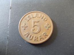 5 Aurar 1942 Island - Islandia