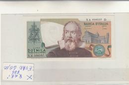 Banca D'Italia Lire 2000 Galileo - Serie Sostitutiva  XA 058537 D 1983 FDS - 2000 Lire