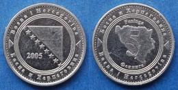 BOSNIA-HERZEGOVINA - 5 Feninga 2005 KM# 121 Federal Republic - Edelweiss Coins - Bosnia And Herzegovina