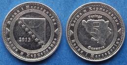 BOSNIA-HERZEGOVINA - 5 Feninga 2013 KM# 121 Federal Republic - Edelweiss Coins - Bosnia And Herzegovina