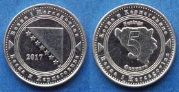 BOSNIA-HERZEGOVINA - 5 Feninga 2017 KM# 121 Federal Republic - Edelweiss Coins - Bosnia And Herzegovina
