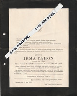 Reninghe, 1923, Irma Tahon, Wullepit - Santini