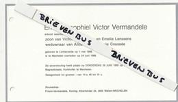Lichtervelde, Mechelen, 1989, Emiel Vermandele, Lanssens, Coussée - Devotion Images