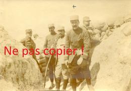 PHOTO FRANÇAISE - POILUS DANS UNE TRANCHEES PRES DE CROUY - AISNE 1915 - GUERRE 1914 1918 - 1914-18