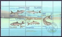 IJSLAND 2002 Blok Fauna GB-USED - Gebruikt