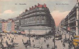 MARSEILLE - Rue De La République - Tramway, A La Samaritaine, Calèches - Tirage Couleurs - Andere
