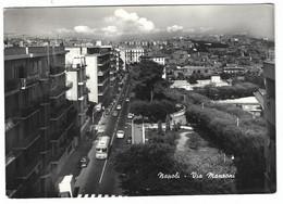 10.948 - NAPOLI VIA MANZONI ANIMATA AUTO CAR AUTOBUS 1963 - Napoli (Naples)