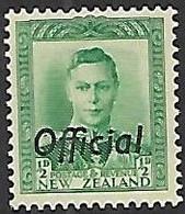 NZ  1938  Sc#O72  1/2d  Official  MH  2016 Scott Value $5.75 - Officials