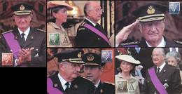 NB - [14175]TB//-CMAX 3695/99, 2007, MB - Belgique - S.M. Le Roi Albert II - SC, 5 Cartes - 2001-2010