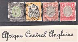 Lot De 4 Timbres Oblitérés, Neufs Et Différents De Afrique Central Anglaise - Lots & Kiloware (max. 999 Stück)