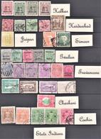 Lot De 33 Timbres Oblitérés, Neufs Et Différents Des Etats Indiens - Lots & Kiloware (max. 999 Stück)