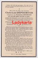 MOERE (WVL) - EKEREN - CHARLES LOUIS DEPOORTER - ECHTG ZUZANNA DECROOS - WACHTMEESTER 1E KLAS RIJKSWACHTER - Images Religieuses