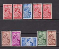 ROYAL  SILVER  WEDDING    1948    10 Various  Stamps    MH - Collections (without Album)