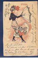 CPA Art Nouveau Illustrateur Femme Women Circulé - Mujeres