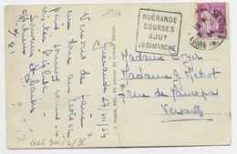 FRANCE N° 281 CARTE DAGUIN GUERANDE COURSES AOUT 2E DIMANCHE 1934 LOIRE INFERIEURE - Mechanical Postmarks (Advertisement)