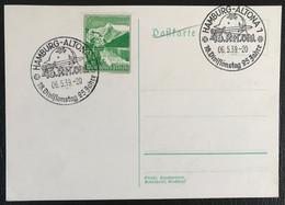 Deutsche Reich 1939 Postkarte Special Stempel  Army Propaganda Hambourg-Altona - Covers & Documents