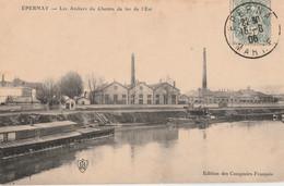 EPERNAY - LES ATELIERS DU CHEMIN DE FER DE L'EST - BELLE VUE D'ENSEMBLE - - Epernay