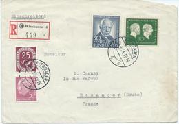 LETTRE RECOMMANDEE  POUR LA FRANCE AVEC 4 TIMBRES - Lettres & Documents