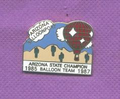 Rare Pins Mongolfiere Arizona State Champion 1985 - 1987 Egf M510 - Montgolfier
