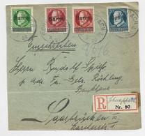 SARRE BAYERN 5PF+10PF+15PF+20PF FRONT DEVANT LETTRE COVER BRIEF PACH 1920 - Lettres & Documents