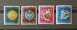 Svizzera Olimpiadi Invernali St. Moritz 1948 4 Valori Nuovi ** - Inverno1948: St-Moritz