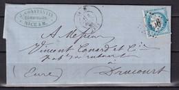 D219 / LOT CERES N° 37 OBL SUR LETTRE - 1870 Beleg Van Parijs