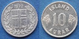 ICELAND - 10 Aurar 1970 KM# 10a Republic (1944) - Edelweiss Coins - Islandia