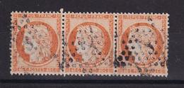 D219 / LOT CERES N° 38 BANDE DE 3 OBL COTE 45€ - 1870 Beleg Van Parijs