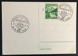 Deutsche Reich 1939 Postkarte Special Stempel Propaganda Frankfurt - Brieven En Documenten