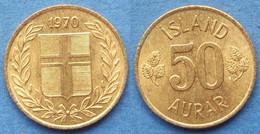 ICELAND - 50 Aurar 1970 KM# 17 Republic (1944) - Edelweiss Coins - Islandia