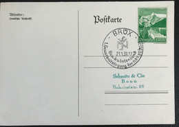 Deutsche Reich 1939 Postkarte Special Stempel Sudetenland Brüx - Covers & Documents