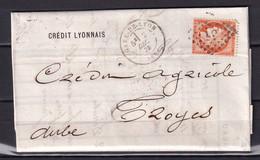 D219 / LOT CERES N° 38 OBL SUR LETTRE - 1870 Beleg Van Parijs