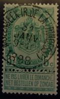 Belgique  Oblitération Molenbeek Rue De La Princesse Sur COB N°56 - 1893-1900 Barbas Cortas