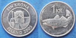 "ICELAND - 1 Krona 2003 ""cod"" KM# 27a Monetary Reform (1981) - Edelweiss Coins - Islandia"