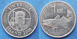 "ICELAND - 1 Krona 2006 ""cod"" KM# 27a Monetary Reform (1981) - Edelweiss Coins - Islandia"