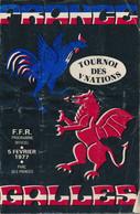Livret Programme Rugby - Tournoi Des 5 Nations 1977 - FRANCE / GALLES - Parc Des Princes - Rugby