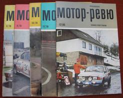 USSR  Soviet Russia Magazine Czechoslovak Moto Review 1978 1985 5 Pcs - Slav Languages