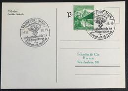 Deutsche Reich 1939 Postkarte Special Stempel Fliegerkorps Propaganda Frankfurt - Brieven En Documenten
