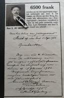 HEYST-OP-DEN-BERG 1932.. UITBETALING ONGEVALLENVERZEKERING AAN HEER E. DE GREEF - Unclassified