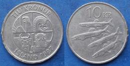 "ICELAND - 10 Kronur 1987 ""4 Capelins"" KM# 29.1 Monetary Reform - Edelweiss Coins - Islandia"