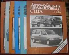 USSR  Soviet Russia Magazine US Automotive Industry 1985 6 Pcs №1,2,3,4,5,6 - Slav Languages