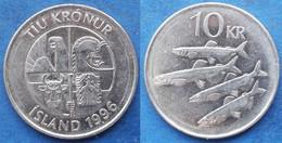 "ICELAND - 10 Kronur 1996 ""4 Capelins"" KM#29.1a Monetary Reform - Edelweiss Coins - Islandia"