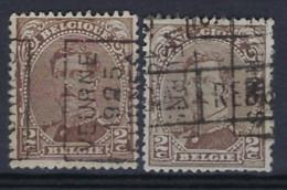 REBUT ALBERT I Nr. 136 Type I Voorafstempeling Nr. 3455 A + B VEURNE  1925  FURNES ; Staat Zie Scan ! - Roller Precancels 1910-19
