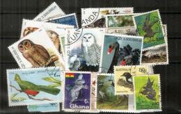 OISEAUX/BIRDS. Selection Joli Lot De 24 Timbres Oblitérés, Thème OISEAUX,  1 ère Qualité . Lot # 3 - Kilowaar (max. 999 Zegels)