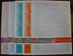 USSR  Soviet Russia Magazine US Automotive Industry 1977 5 Pcs №7,8,9,10,11 - Slav Languages