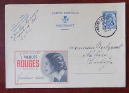 """EP Belgique Publibel 464 """" Pilules Rouges L. Dupuis """" - Braine-le-Comte Vers Tubize 1942 - Publibels"""