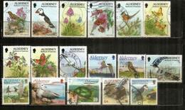 ALDERNEY / AURIGNY . OISEAUX/BIRDS. Beau Lot (17) Timbres Oblitérés,  1 ère Qualité . - Kilowaar (max. 999 Zegels)