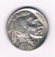 FIVE CENTS   1937  USA /6383/ - 1913-1938: Buffalo
