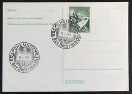 Deutsche Reich 1939 Postkarte Special Stempel Tag Der Wehermacht Chemnitz - Covers & Documents