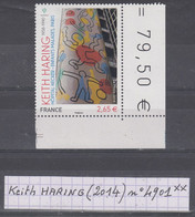 France Série Artistique: Keith HARING (2014) Y/T N° 4901 Neuf ** Coin De Feuille - Nuovi